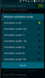 Make Android Phone Fast With Animation Scale Off