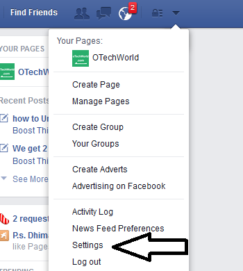 facebook settings How To Download All Facebook Information