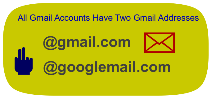 Gmail Give Us Two Email Addresses