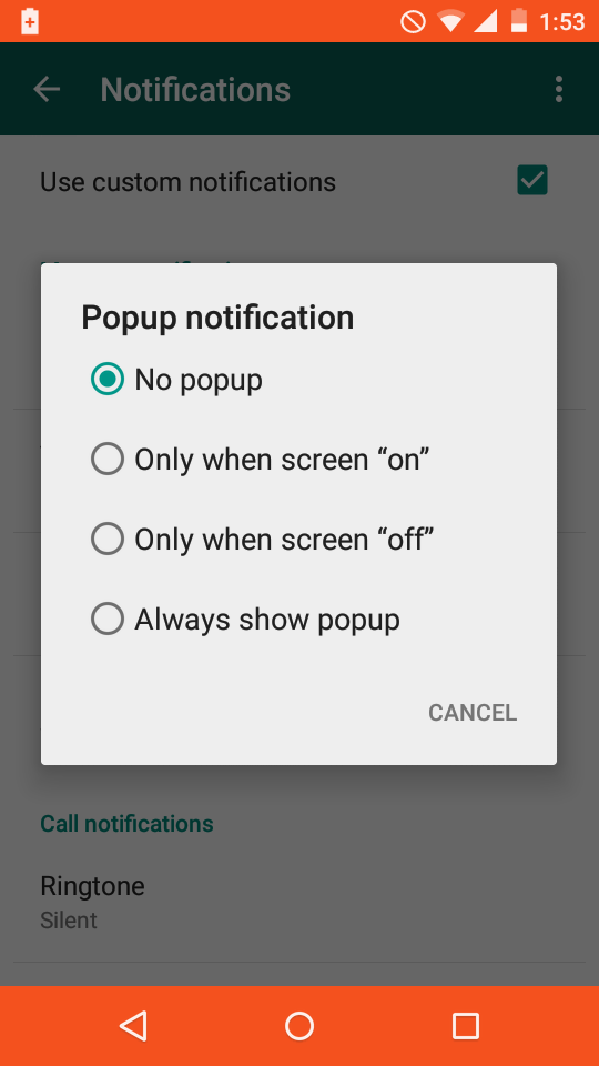 popup notification Set Custom Notification In Whatsapp For Every Contact