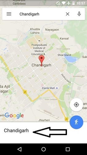 search location in google maps
