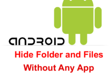 How To Hide Folder In Android
