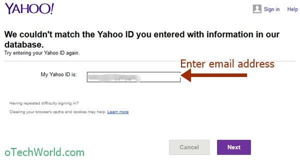 Know If An Email Address Is Valid Or Not in Yahoo