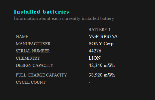 battery detail
