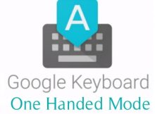 one handed layout of google keyboard