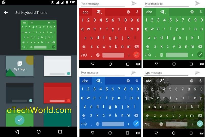 Themes in Google  keyboard