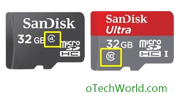 classes of microsd