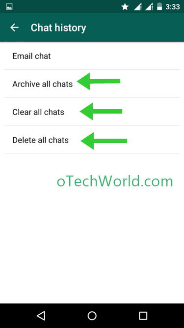 clear all chat at once