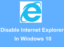 disable internet explorer