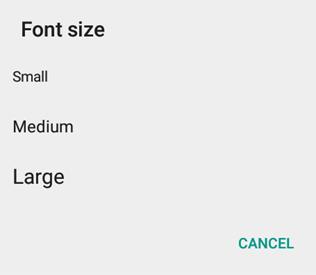 font size in whatsapp