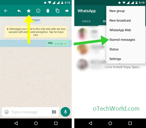 star messages in whatsapp