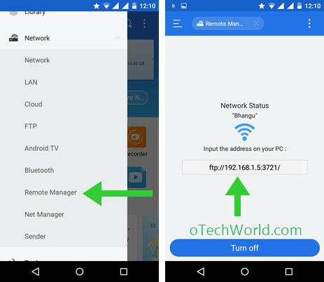 Save Files In PC From Your Android Device With The Remote Manager ES File Explorer