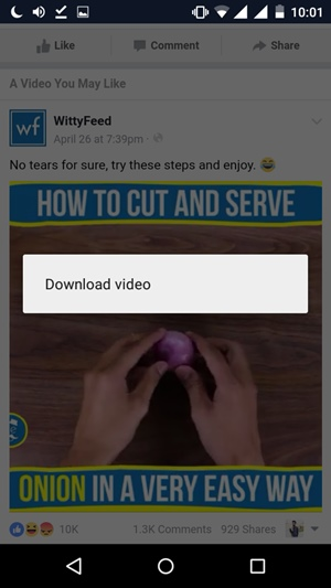 How To Save Facebook Videos To Phone Gallery using chrome browser