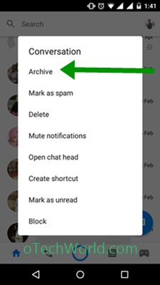 How To Archive Messages On Facebook Messenger App