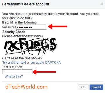 enter the password and captcha