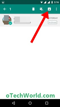 how to find archived messages on whatsapp Tap on the Unarchive icon