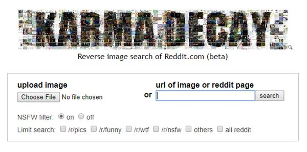 Karma Decay reverse image search for reddit