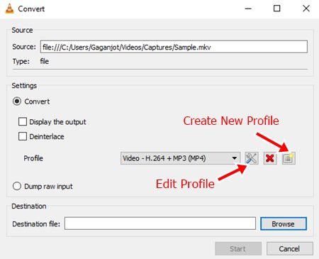 create a new profile option