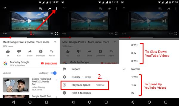 How To Slow Down Or Speed Up YouTube Videos On YouTube App