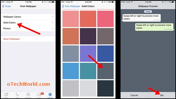 Change WhatsApp Background Color On iPhone
