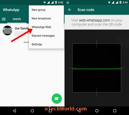 scan QR code to use 1 whatsapp account in 2 mobile phones