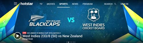 hotstar sports streaming website