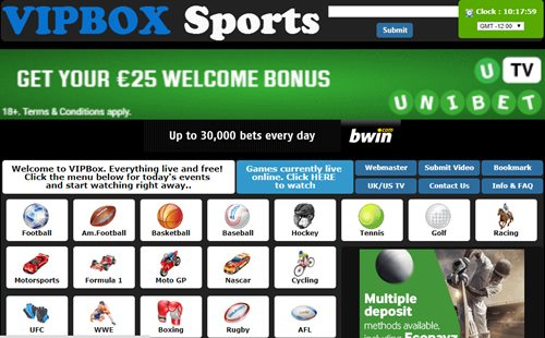 vip box sports streaming sites