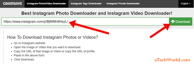 How To Save Instagram Photos On Mobile And PC - oTechWorld